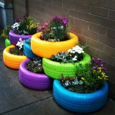 25 DIY Tire Planters Ideas For You