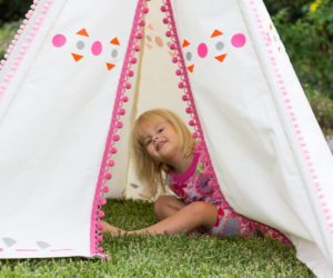 diy teepee with canvas drop cloth