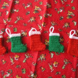 Christmas Stocking with Crochet Cable