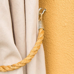 Country Curtain Tie Back With Rope