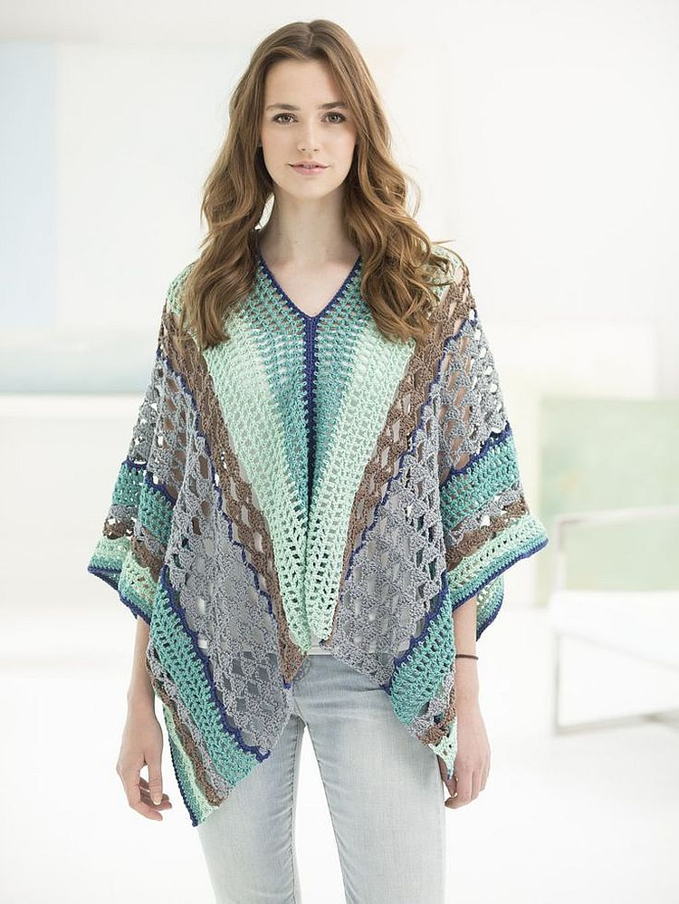Free Crochet Pattern Ladies Poncho : 37 Creative Crochet Poncho Patterns For You ? Patterns Hub