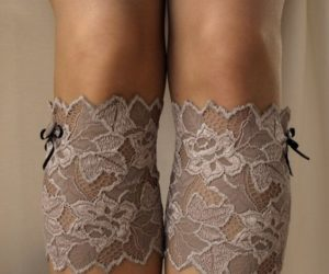 crochet boot cuffswith lace