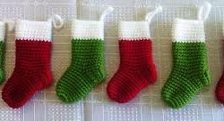 Small Crochet Christmas Stocking Free Pattern