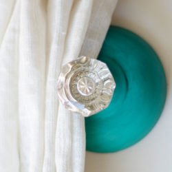 Curtain Tie Back With a Door Knob