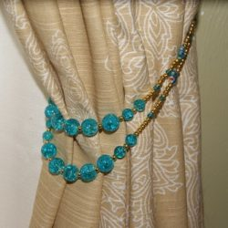 Stringing Beads for a Curtain Tie Back Project