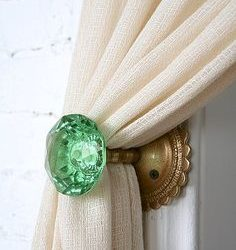 DIY Door Knob Curtain Tie Backs