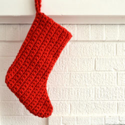 filet crochet christmas stocking