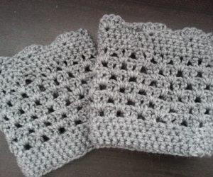 crochet boot cuffspattern easy