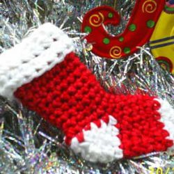 Felted Crochet Christmas Stocking Pattern