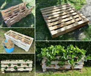 wood pallet planterdiy