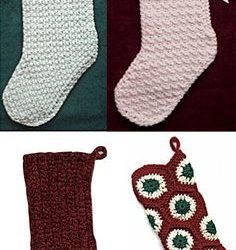 crochet lace christmas stocking