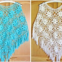 crochet poncho lace pattern