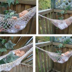 macrame toy hammock pattern