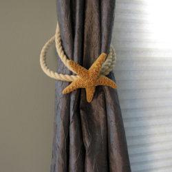 nautical curtain tie backs diy