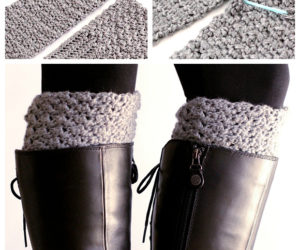 crochet boot cuffs reversible