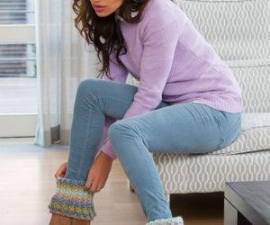 Crochet Boot Cuff Design