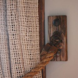 Rustic Curtain Tie Back of Thick Rope