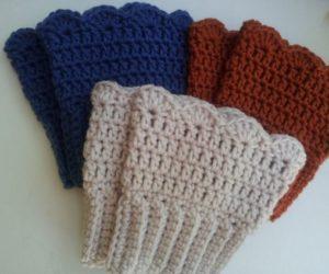 Scalloped Bcuffs Crochet pattern