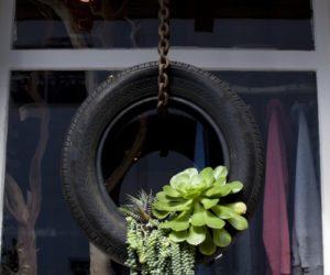 Tire Balcony Planters