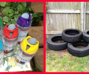 Tire Planters Paint