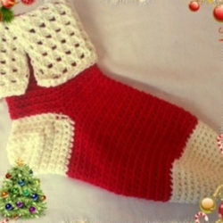 Tunisian Crochets Christmas Stocking Patterns