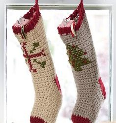 crochet big christmas stocking