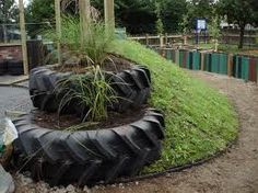used tire planters