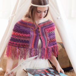 retro crochet poncho patterns