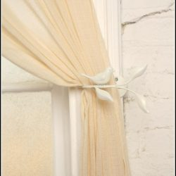 White Branch Tie Back For Curtain
