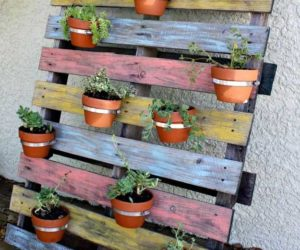 wood pallet vertical planter