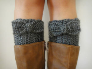 quick and easy crochet boot cuffs