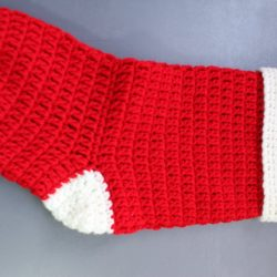 crochet little christmas stocking