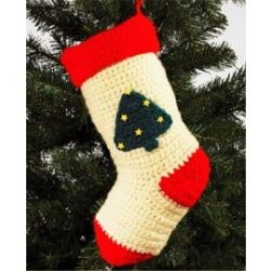 Crocheting Christmas Stockings for Tree Decoration