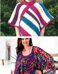 free crochet poncho pattern with sleeves
