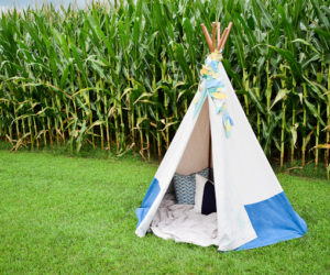 DIY Teepee with Bamboo