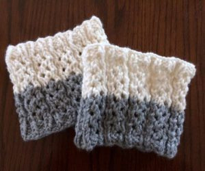 easy crochet boot cuffs pattern free