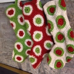 Personalized Crochet Christmas Stockings