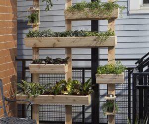 wooden pallet herb gardens
