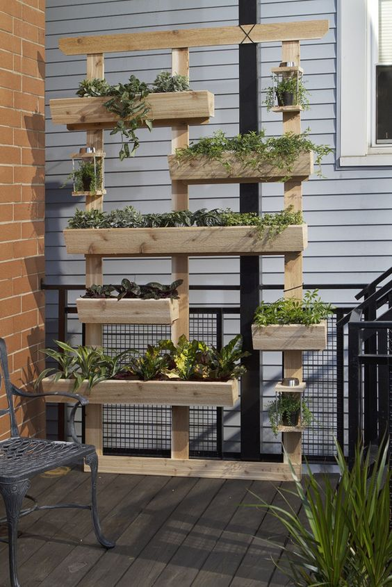 Reclaimed Wood Wall Planter
