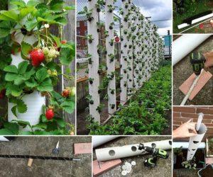 wooden pallet strawberry planter