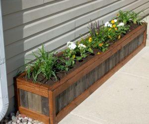 wood pallet planterbox