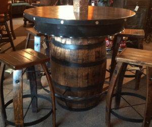 barrel table ideas