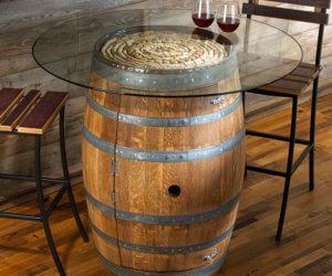 Outdoor Barrel Table