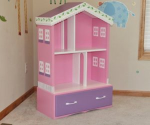 barbie doll house bookcase