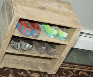 wood pallet shoe rack plans