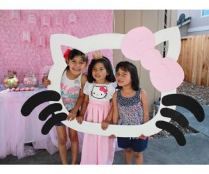 Birthday Party Cardboard Picture Frame