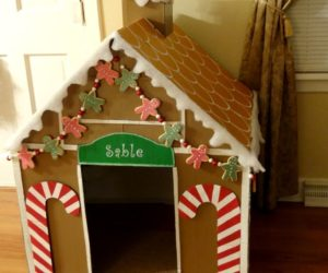 cardboard playhouse brown