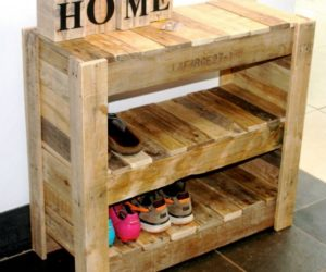 diy pallet shoe rack tutorial