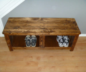 shoe rack from pallet