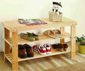 Patio Pallet Shoe Rack